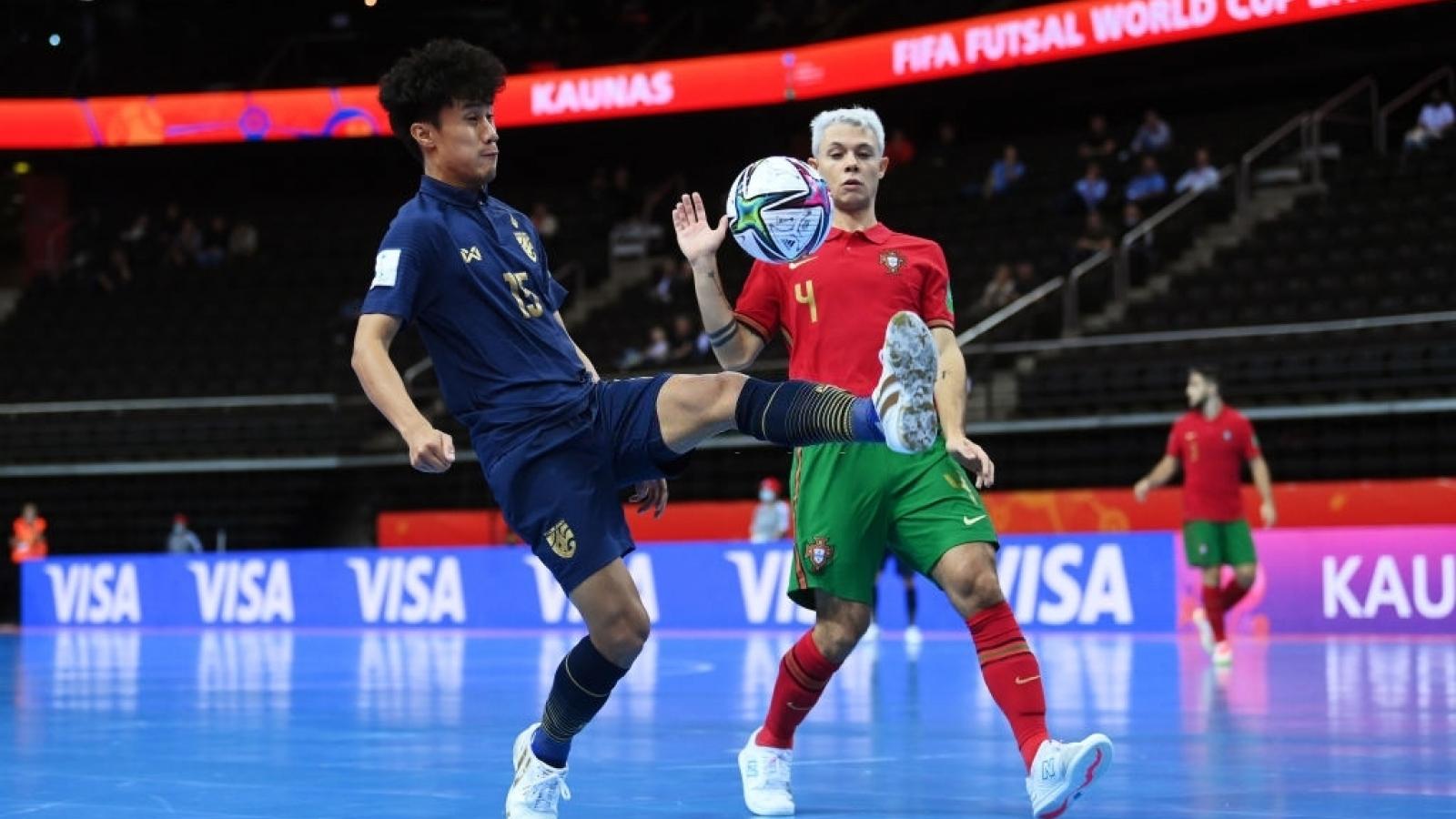 ĐT Futsal Thái Lan không thể gây sốc trước Bồ Đào Nha ở Futsal World Cup 2021