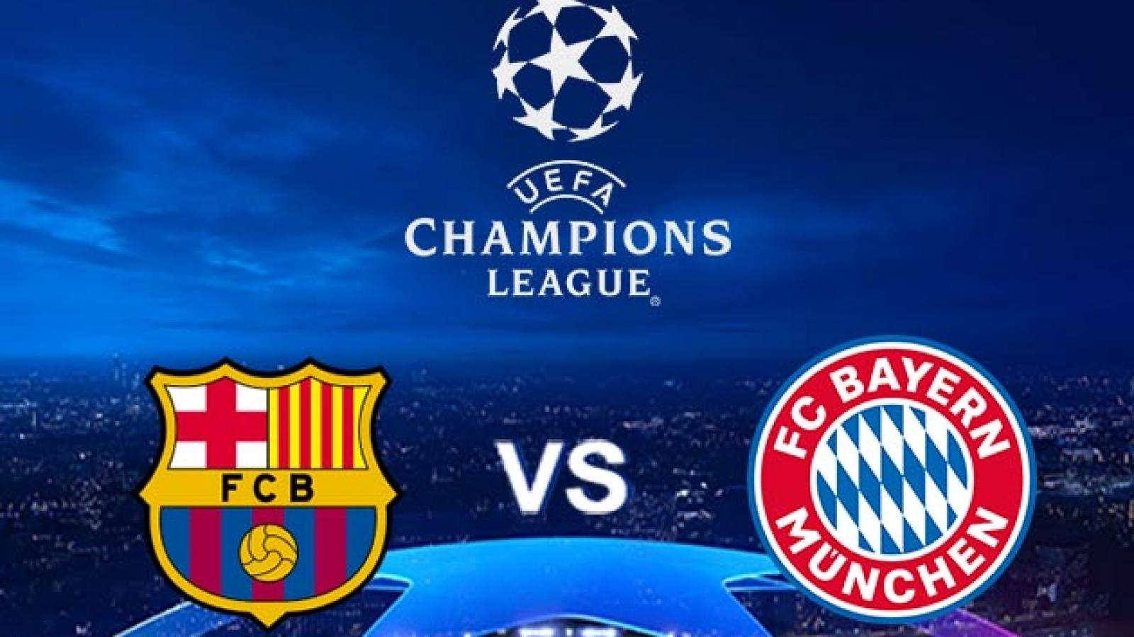 """Lịch thi đấu lượt trận mở màn Champions League: Barca """"đại chiến"""" Bayern Munich"""