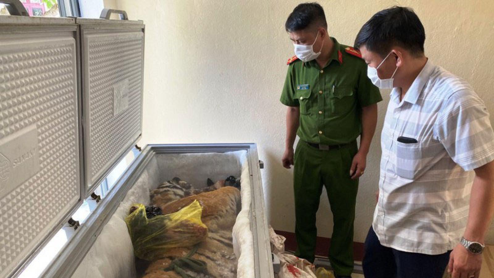 Phát hiện xác hổ 160kg trong tủ đông lạnh ở nhà dân