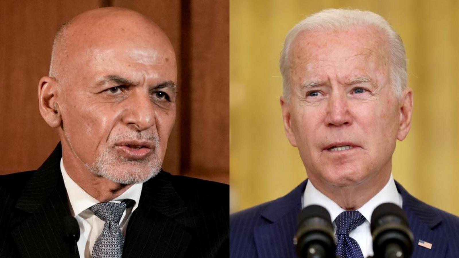 Tiết lộ về cuộc gọi cuối cùng của Tổng thống Biden với Tổng thống Ghani