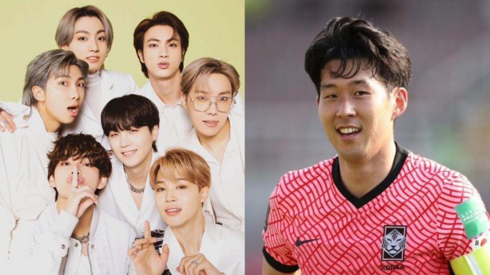 """Son Heung-min ca ngợi BTS là """"anh hùng dân tộc"""""""