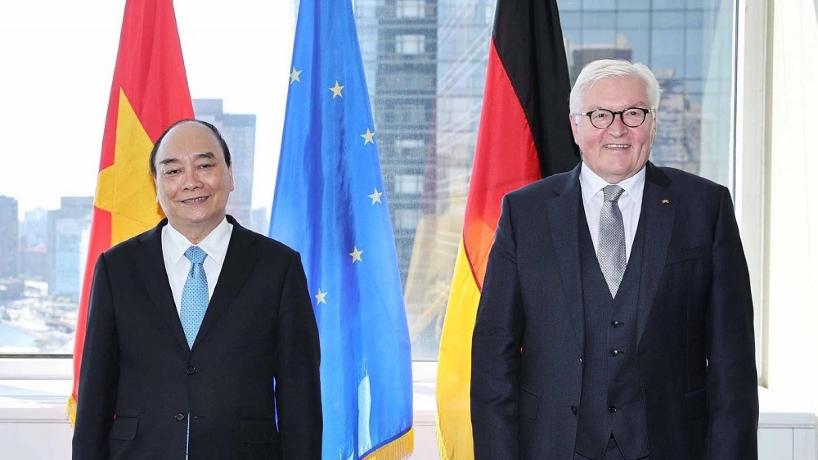 Chủ tịch nước Nguyễn Xuân Phúc gặp Tổng thống Đức