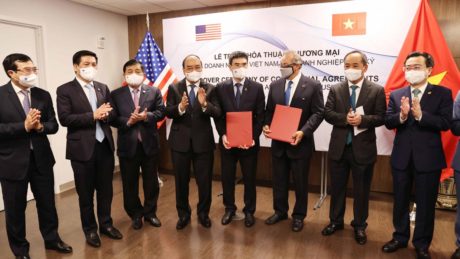 Chủ tịch nước chứng kiến doanh nghiệp Việt Nam và Hoa Kỳ trao thỏa thuận hợp tác
