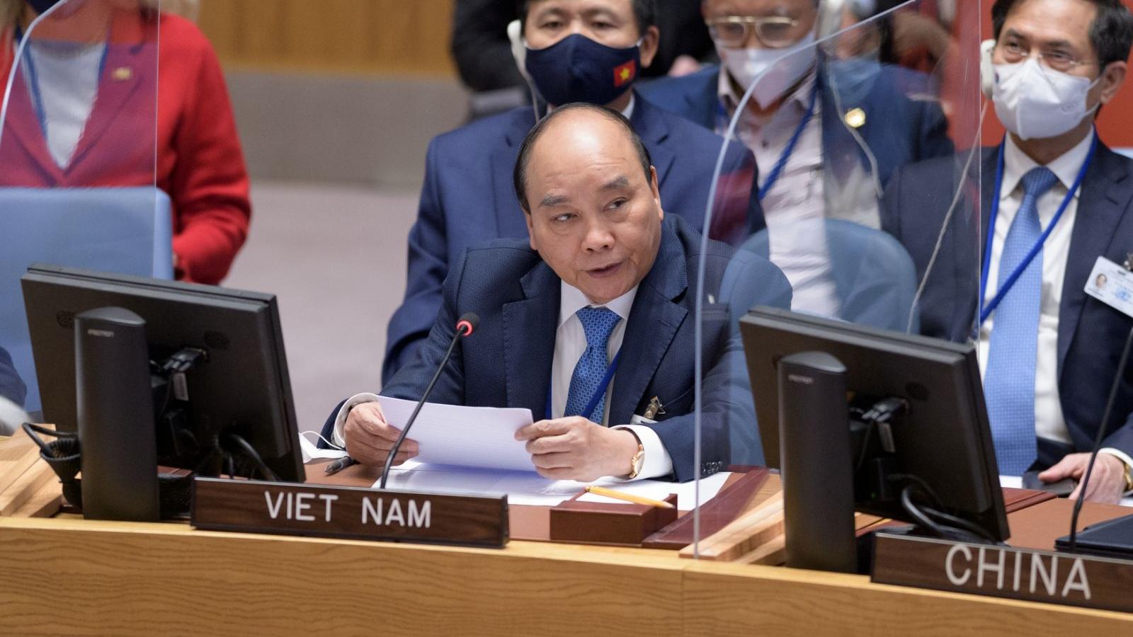 Chủ tịch nước đề nghị LHQ lập cơ sở dữ liệu về tác động của nước biển dâng