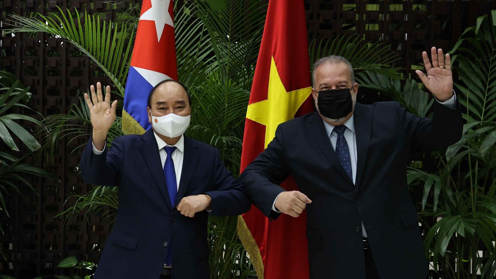 Mối quan hệ mẫu mực Việt Nam-Cuba không ngừng được củng cố và phát triển toàn diện