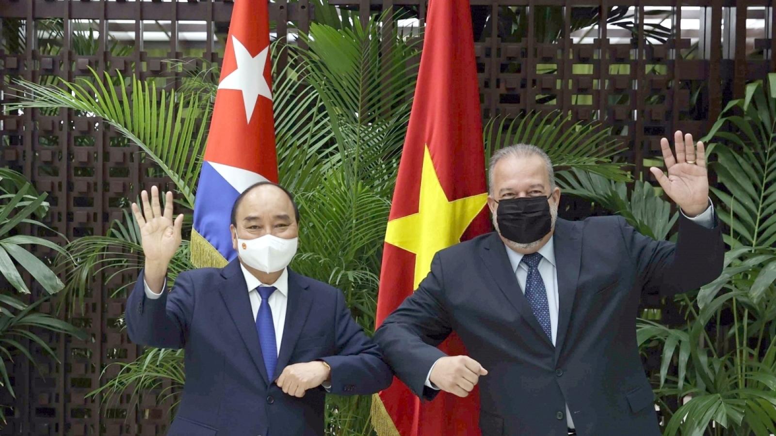 Chủ tịch nước thúc đẩy các doanh nghiệp Việt Nam tăng cường đầu tư vào Cuba