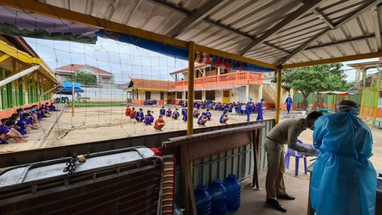 Một trại giam tại Campuchia bùng phát dịch Covid-19