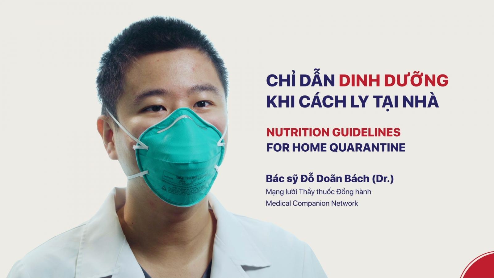 Bộ Y tế hướng dẫn chế độ dinh dưỡng cho F0, F1 tại nhà