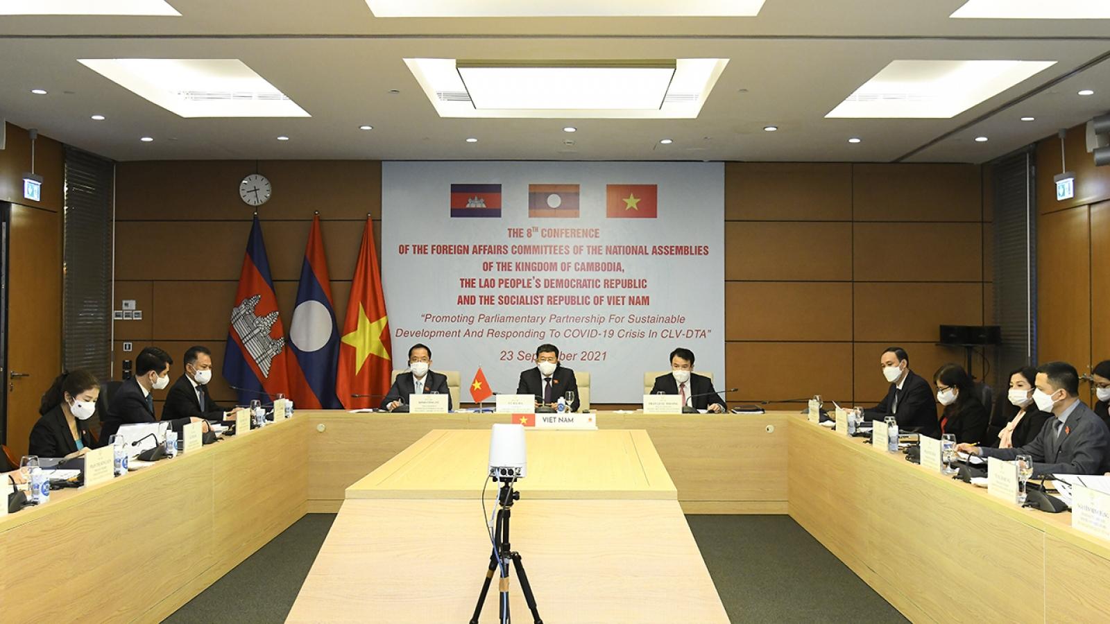 Hội nghị lần thứ 8 Ủy ban Đối ngoại Quốc hội 3 nước Campuchia - Lào - Việt Nam