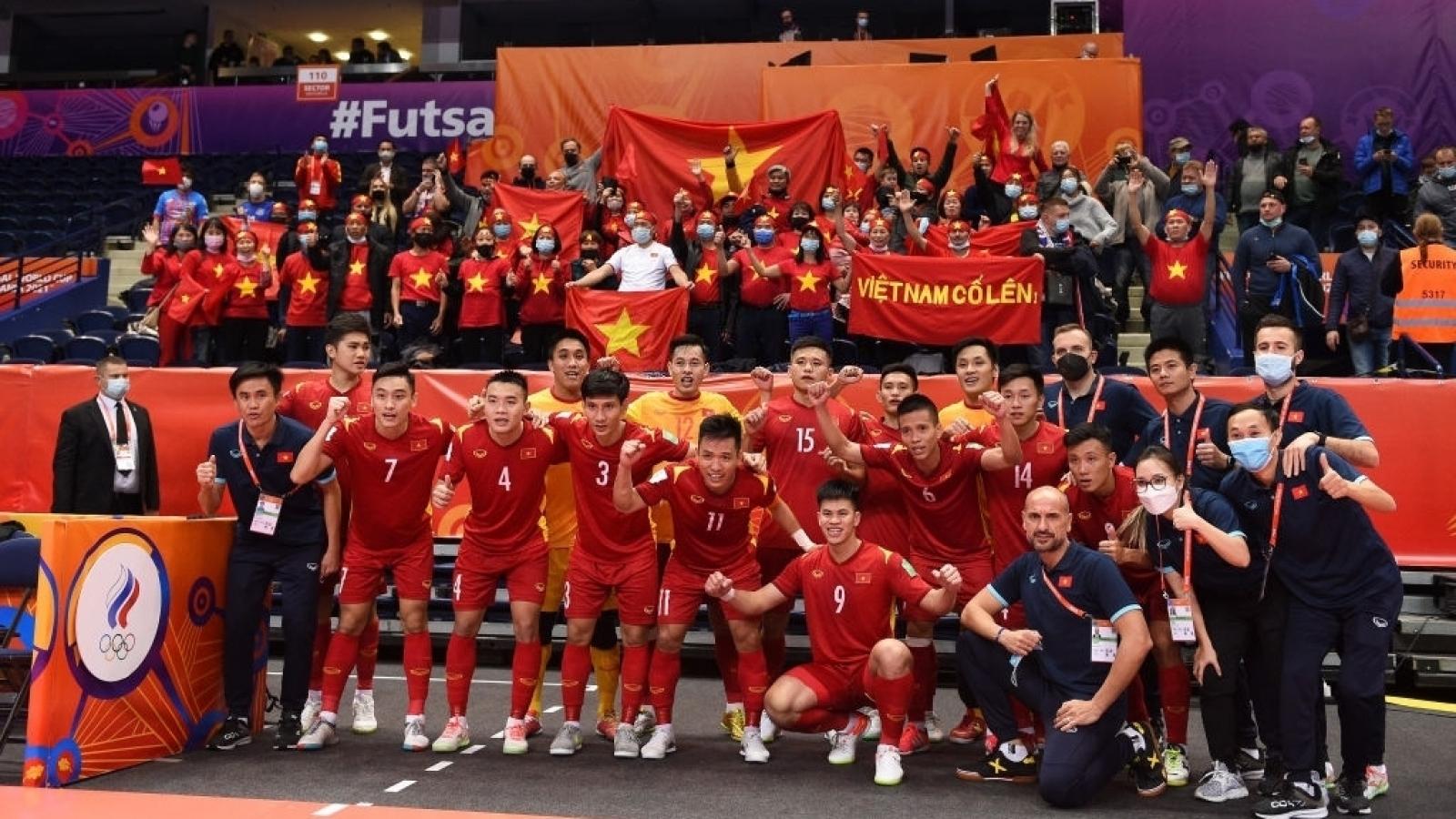 ĐT Futsal Việt Nam được thưởng lớn sau trận đấu với ĐT Futsal Nga