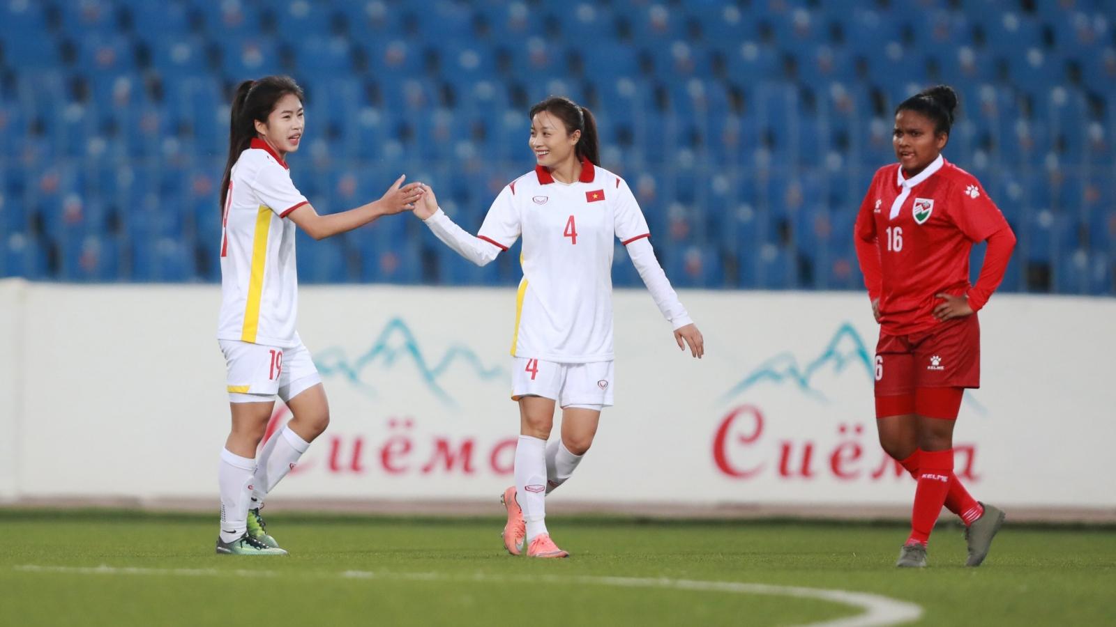 Vòng loại Asian Cup nữ 2022: ĐT Việt Nam thắng 16-0 trước ĐT Maldives