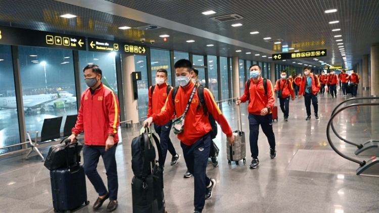 Futsal players arrive in Lithuania for World Cup 2021 finals