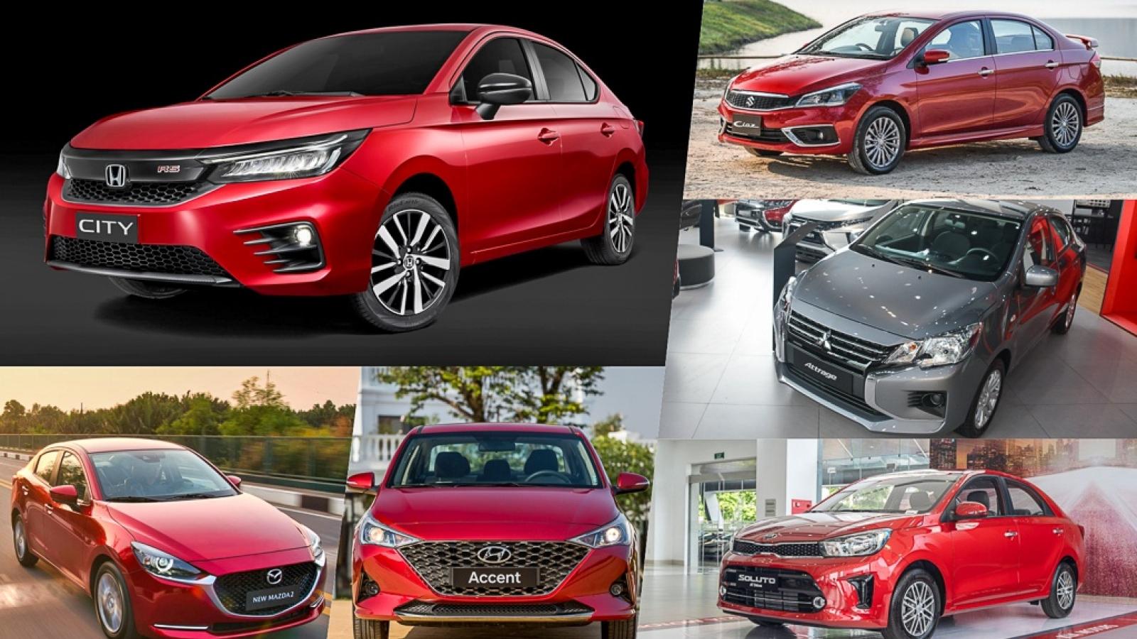 Thị trường ô tô lao dốc, doanh số nhiều mẫu sedan hạng B thấp kỷ lục trong tháng 8