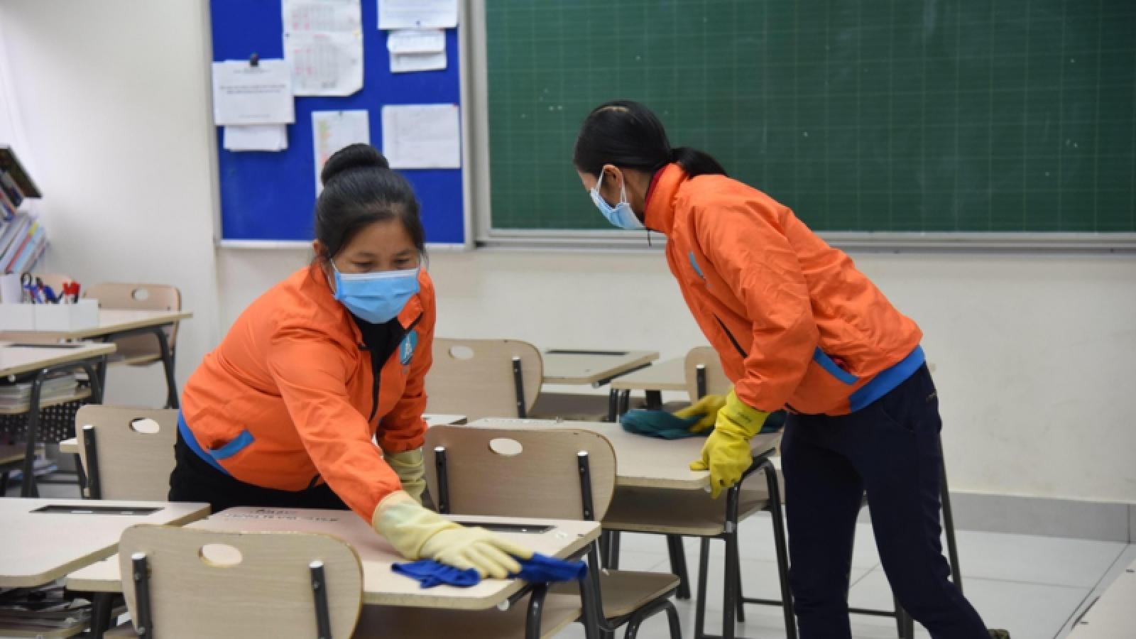 Các trường học ở Hà Nội lên phương án đón học sinh trở lại lớp