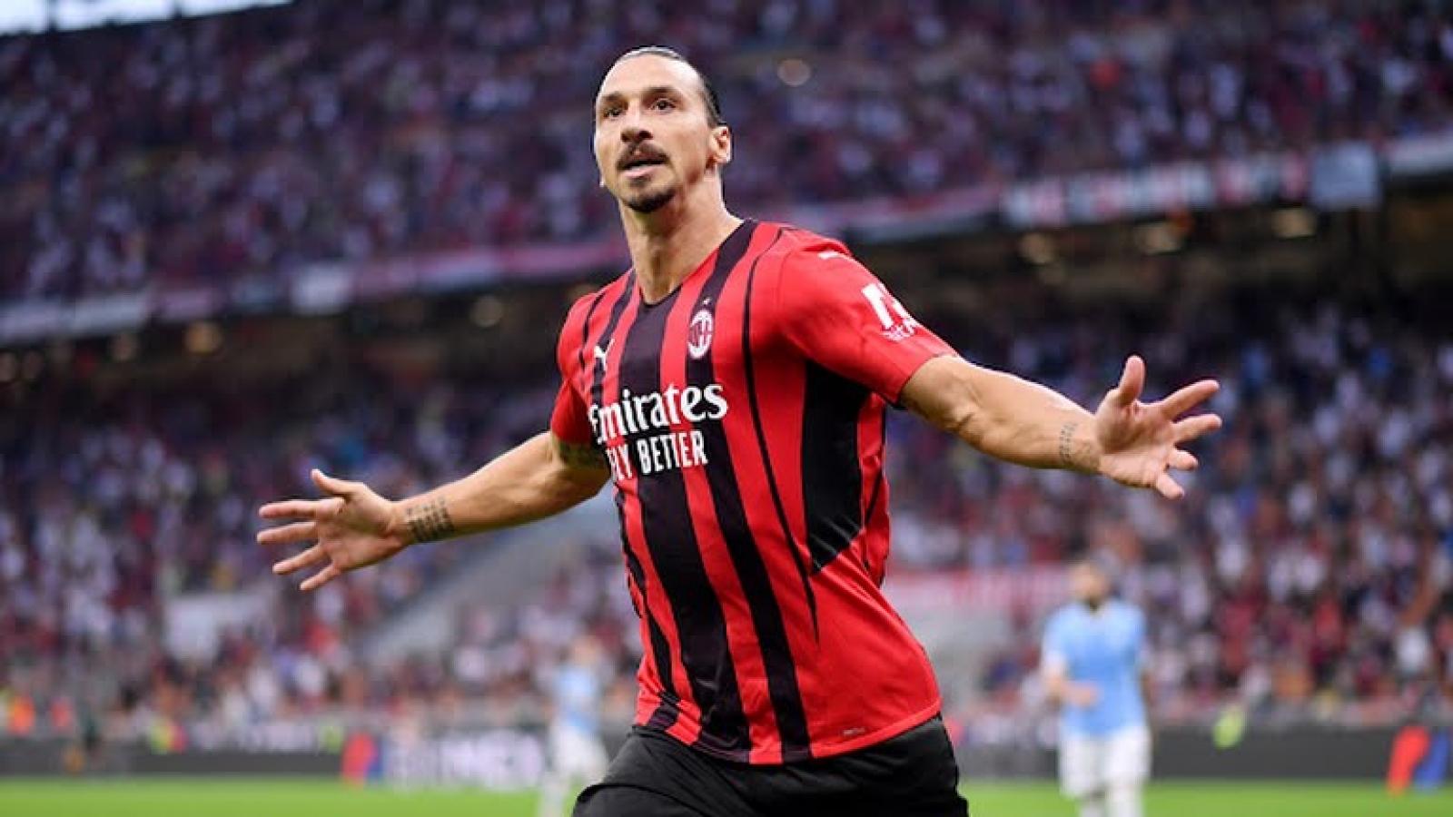 Ibrahimovic ghi bàn, AC Milan thắng dễ Lazio