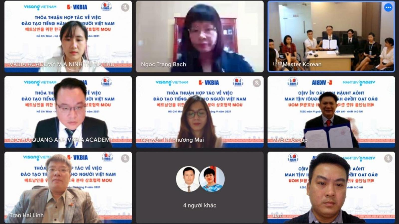 Hợp tác đào tạo nguồn nhân lực có trình độ ngôn ngữ Hàn Quốc