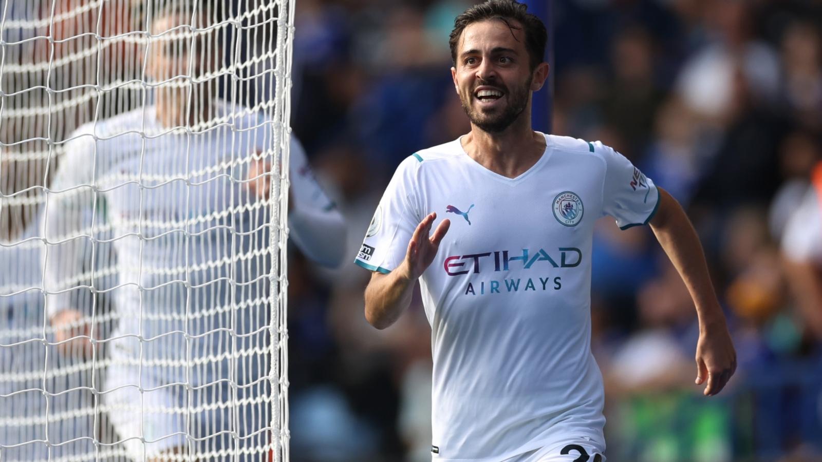 "Bernardo Silva toả sáng, Man City ""phục thù"" Leicester"