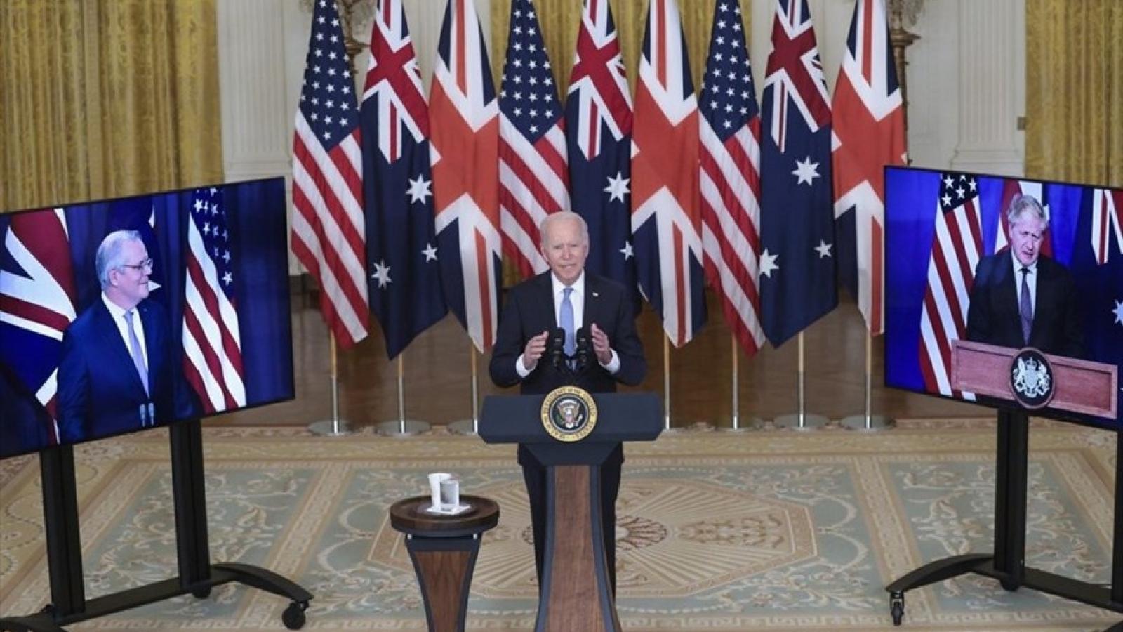 Liên minh an ninh Mỹ-Anh-Australia sẽ tái định hình quan hệ ở Ấn Độ Dương-Thái Bình Dương