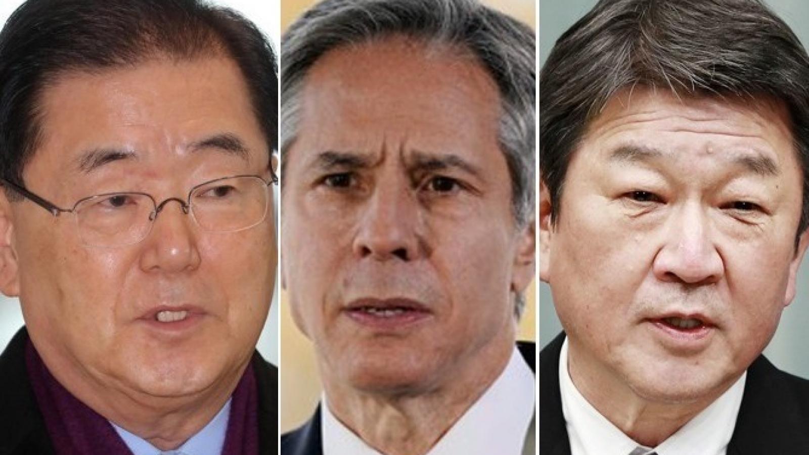 Ngoại trưởng Mỹ-Nhật-Hàn họp về Triều Tiên, hạ viện Mỹ thắt chặt trừng phạt Nga