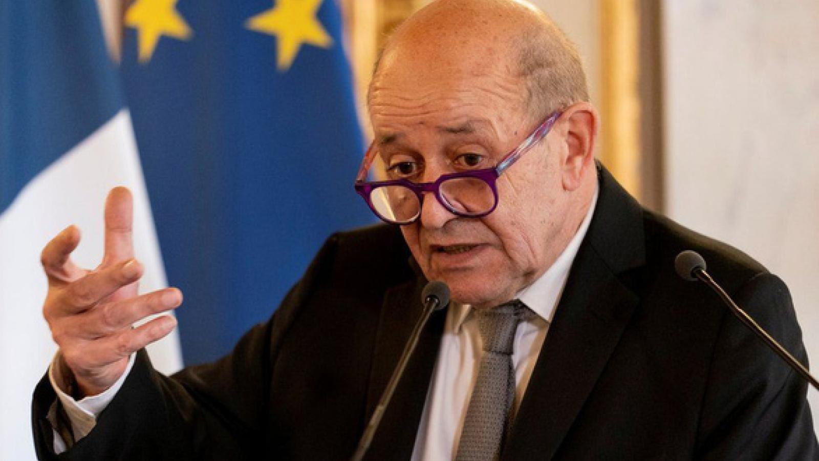 Ngoại trưởng Pháp tổ chức họp báo tại New York – nói về AUKUS, Iran và Libya