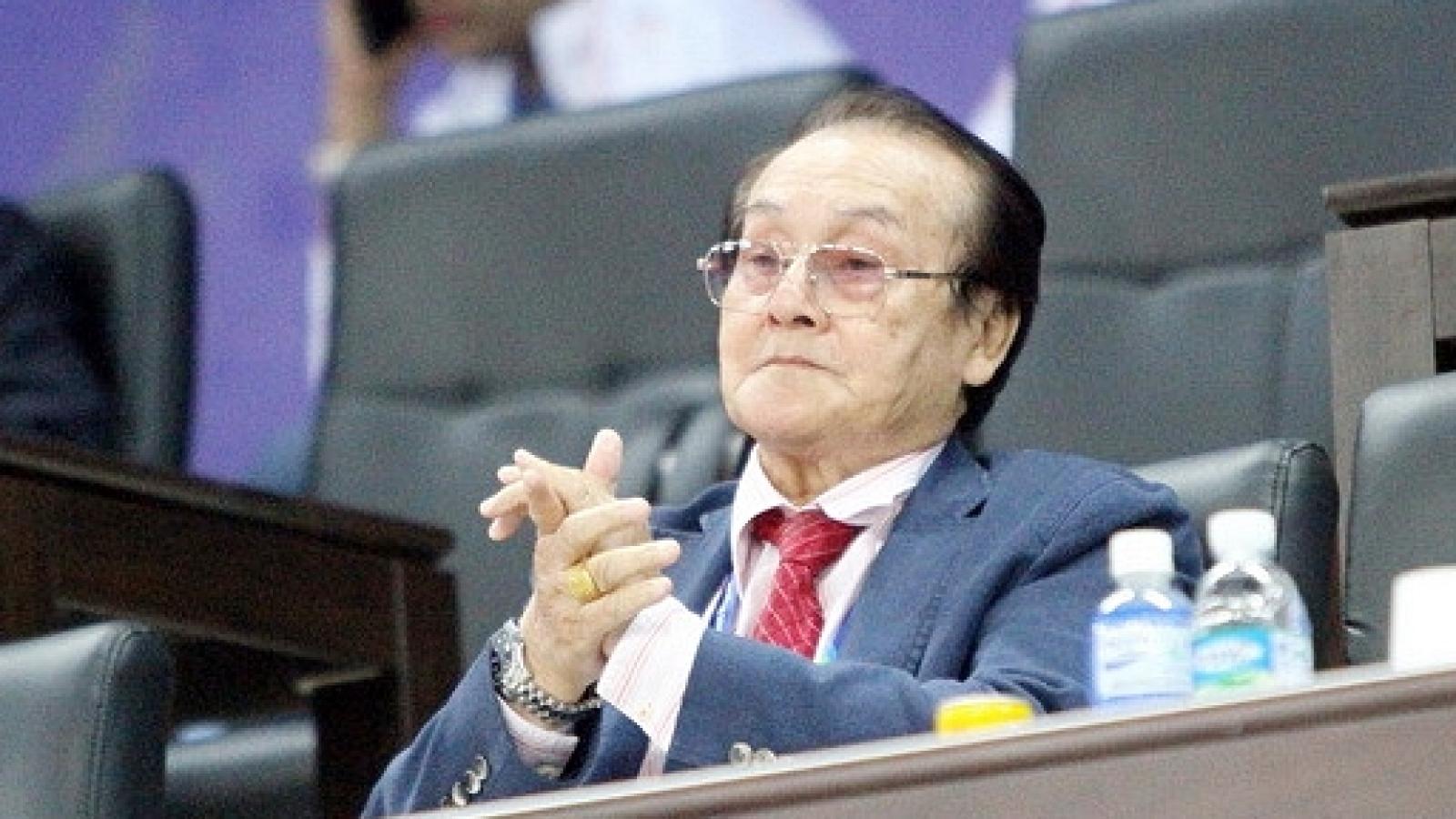Ông Hoàng Vĩnh Giang qua đời là mất mát lớn cho thể thao Việt Nam