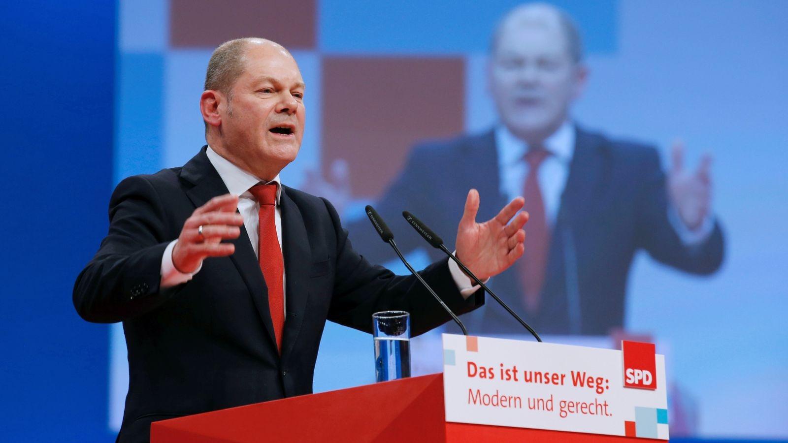 Đảng SPD và ông Olaf Scholz giữ vững cách biệt 1 tuần trước bầu cử Đức