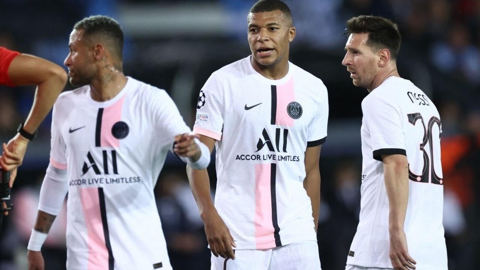 Brugge 1-1 PSG: Lần đầu thất vọng của tam tấu Messi - Neymar - Mbappe
