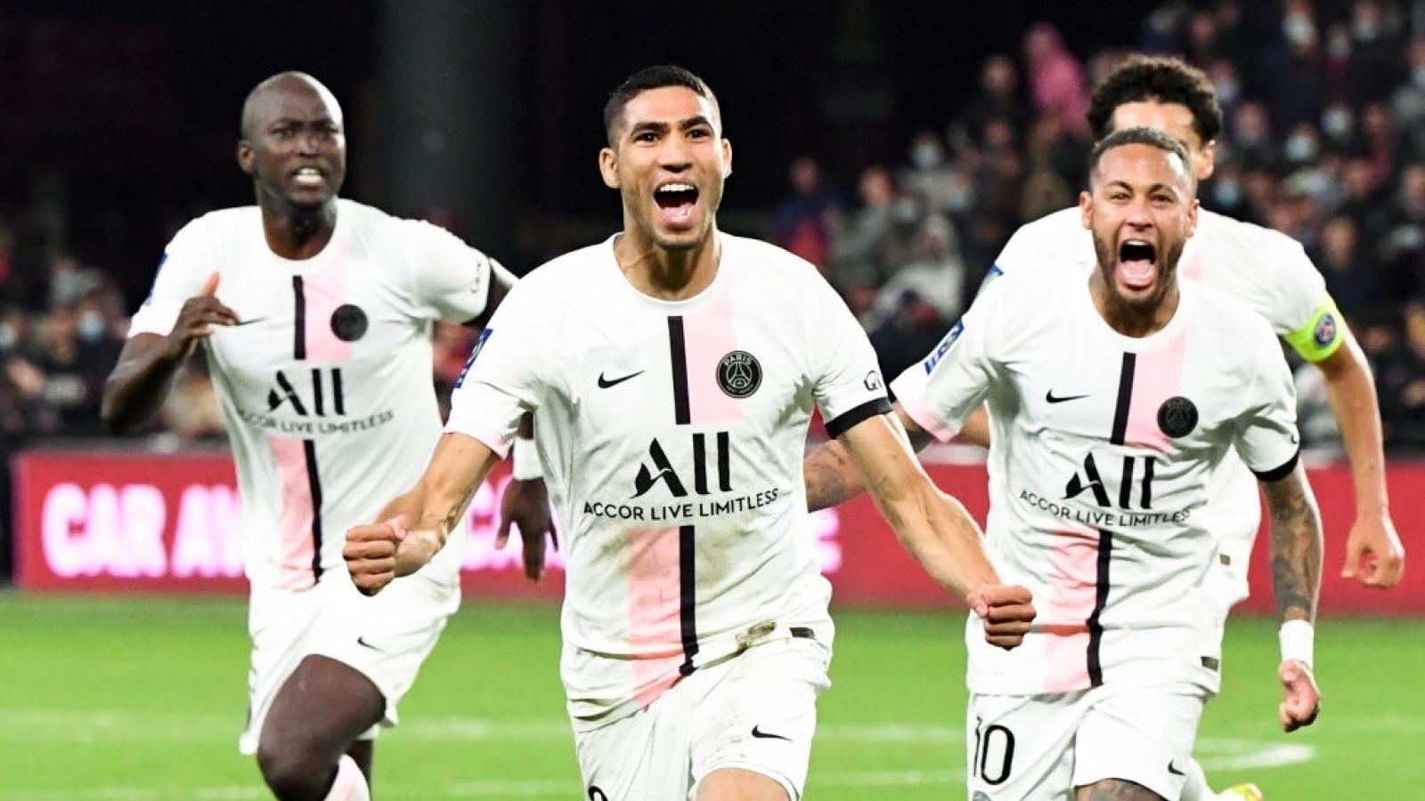 Messi vắng mặt vì chấn thương, PSG suýt mất điểm trước đội cuối bảng Ligue 1