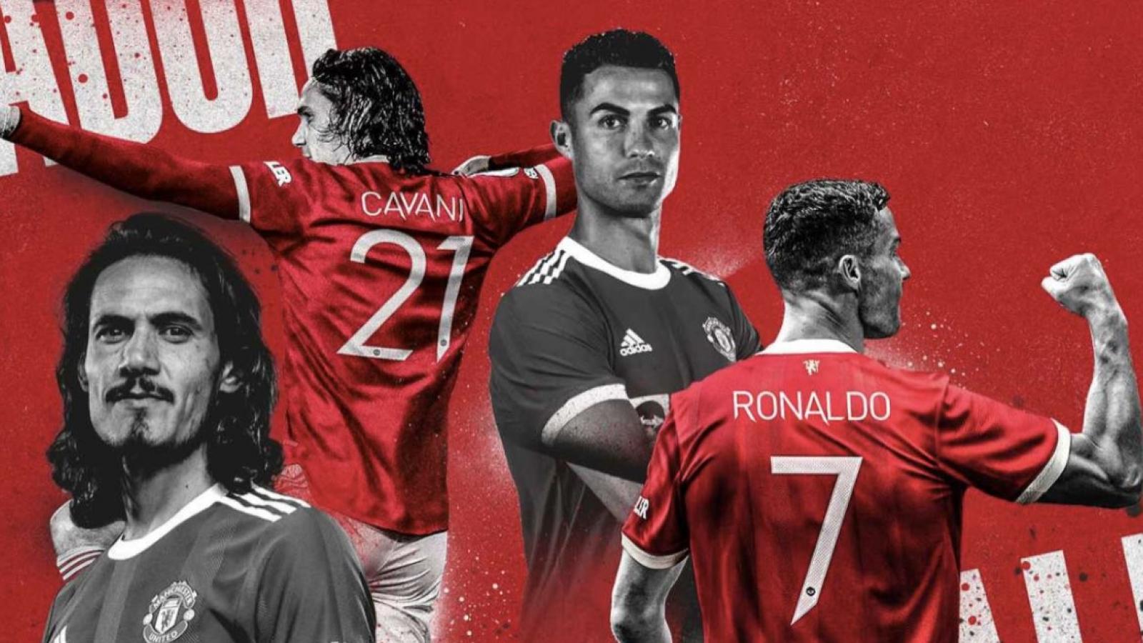 Cavani đổi số áo, Ronaldo chính thức nhận áo số 7 ở MU