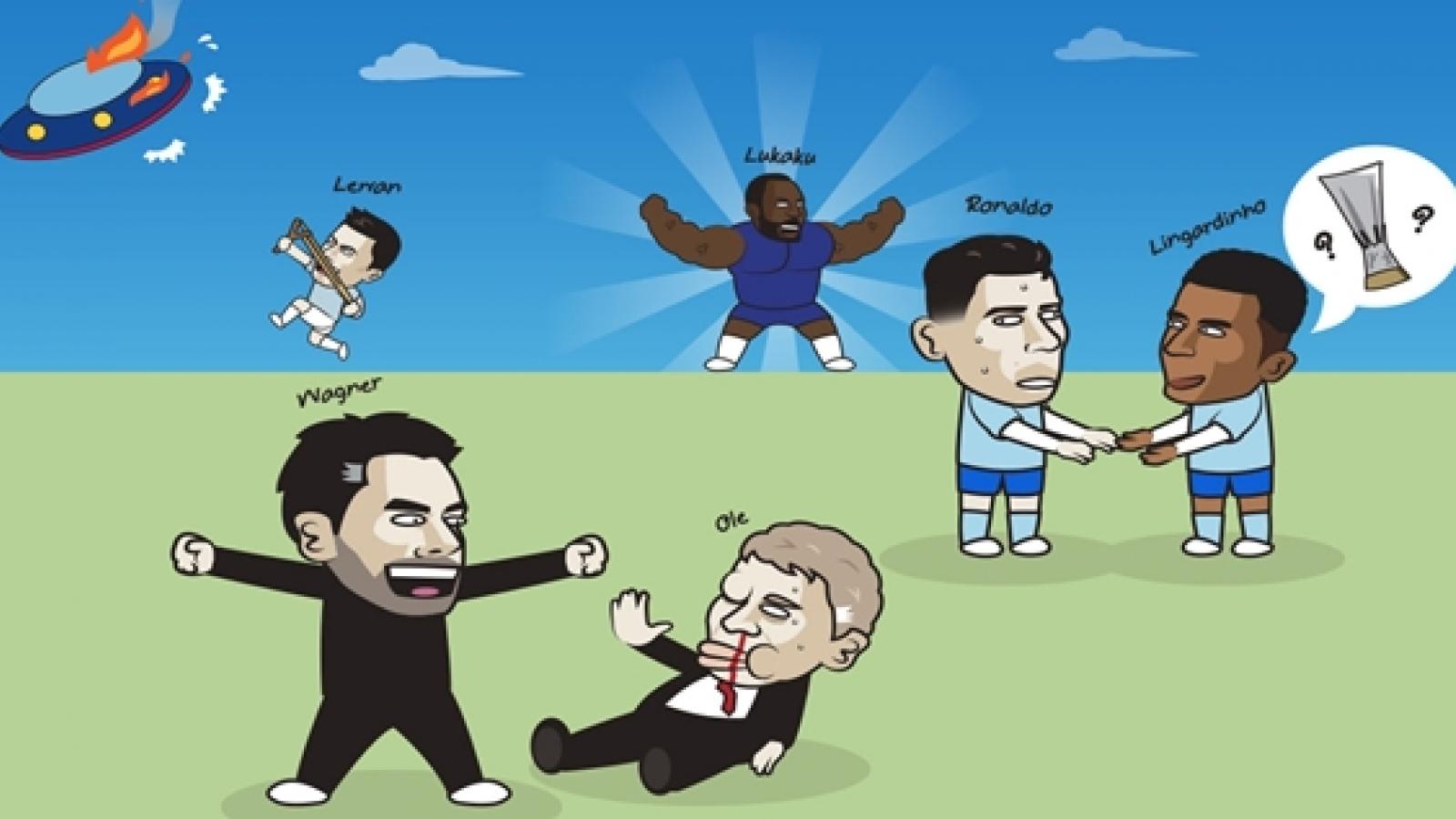 """Biếm hoạ 24h: Ronaldo không """"gánh"""" nổi Lingard"""
