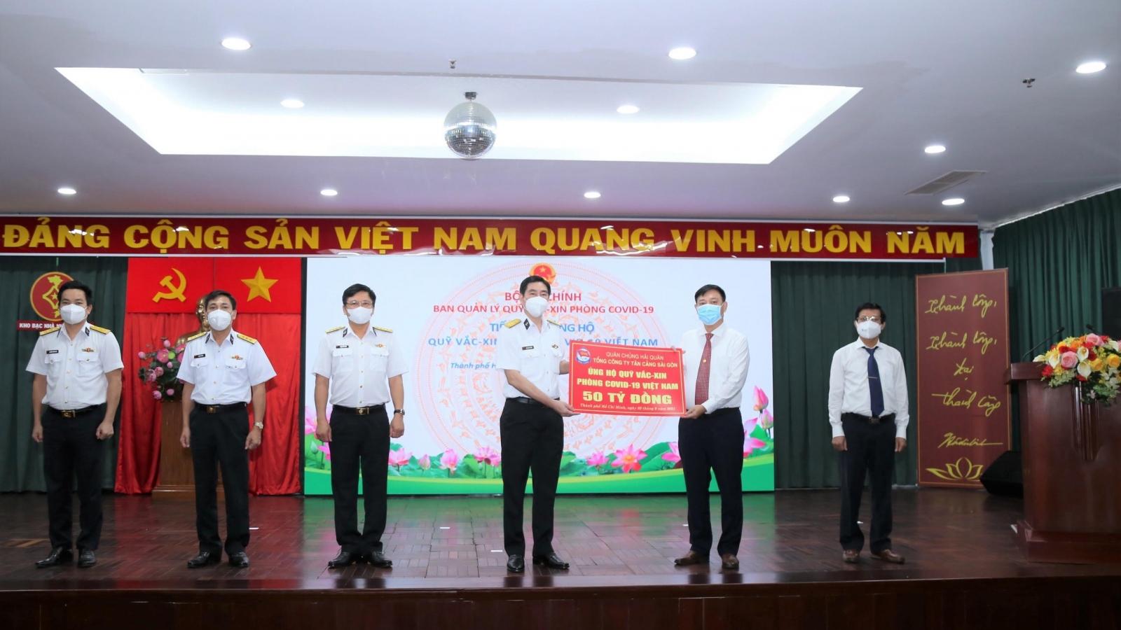 """Tân Cảng Sài Gòn ủng hộ 50 tỷ đồng vào """"Quỹ vaccine phòng, chống Covid-19"""""""