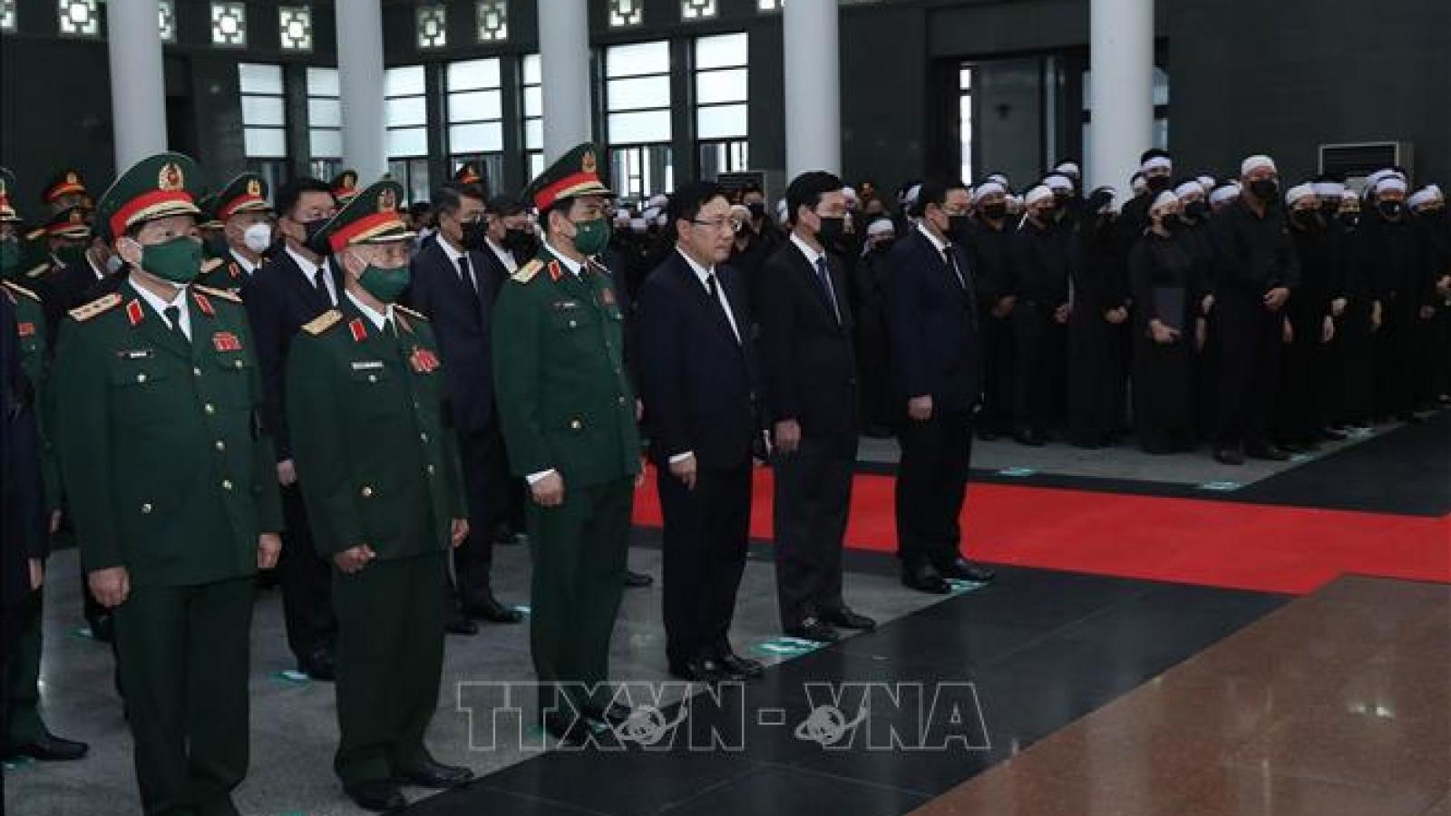Lời cảm ơn của Ban Lễ tang và gia đình đồng chí Đại tướng Phùng Quang Thanh