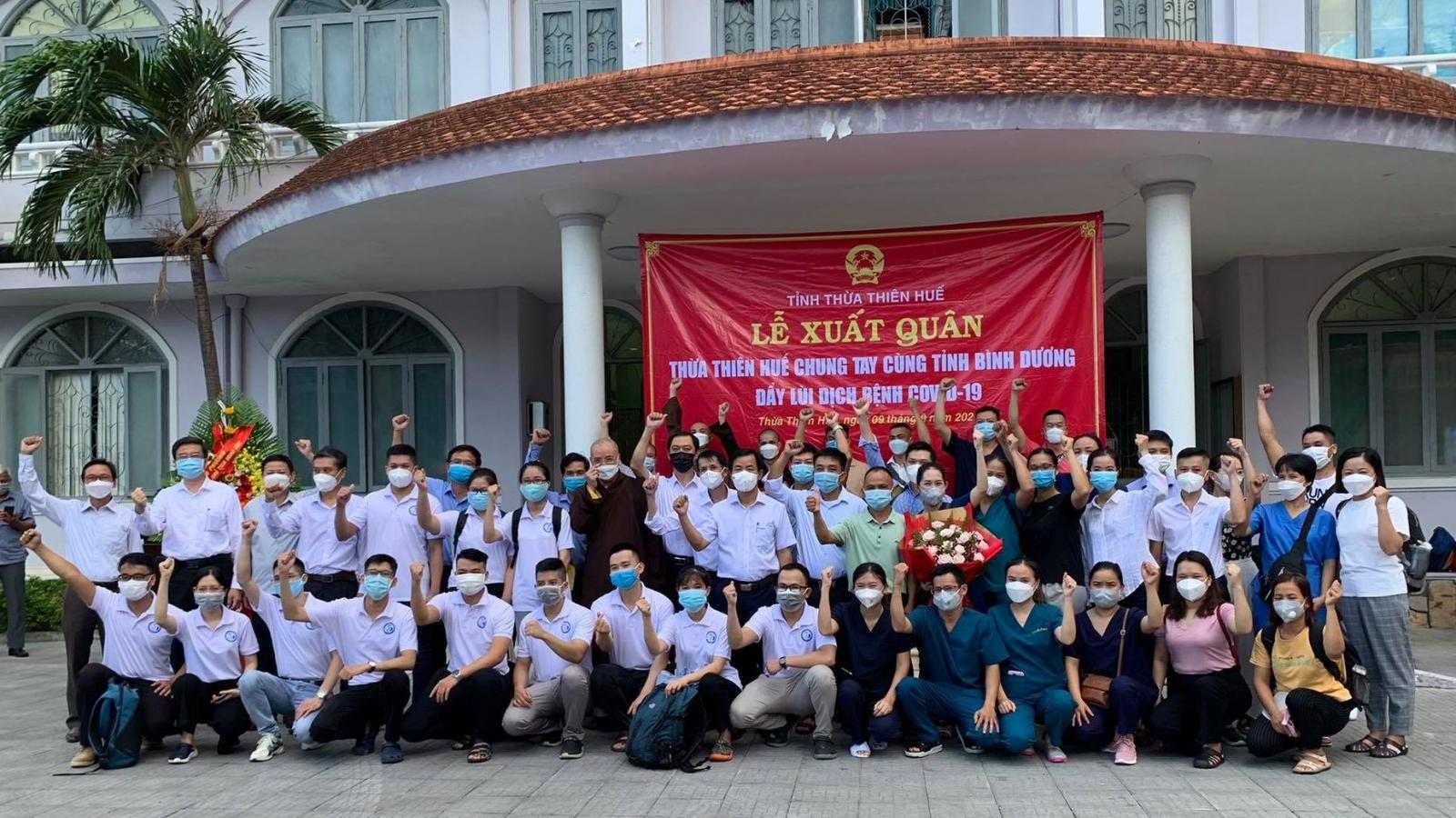 Tăng, ni ở Thừa Thiên – Huế tham gia hỗ trợ Bình Dương chống dịch