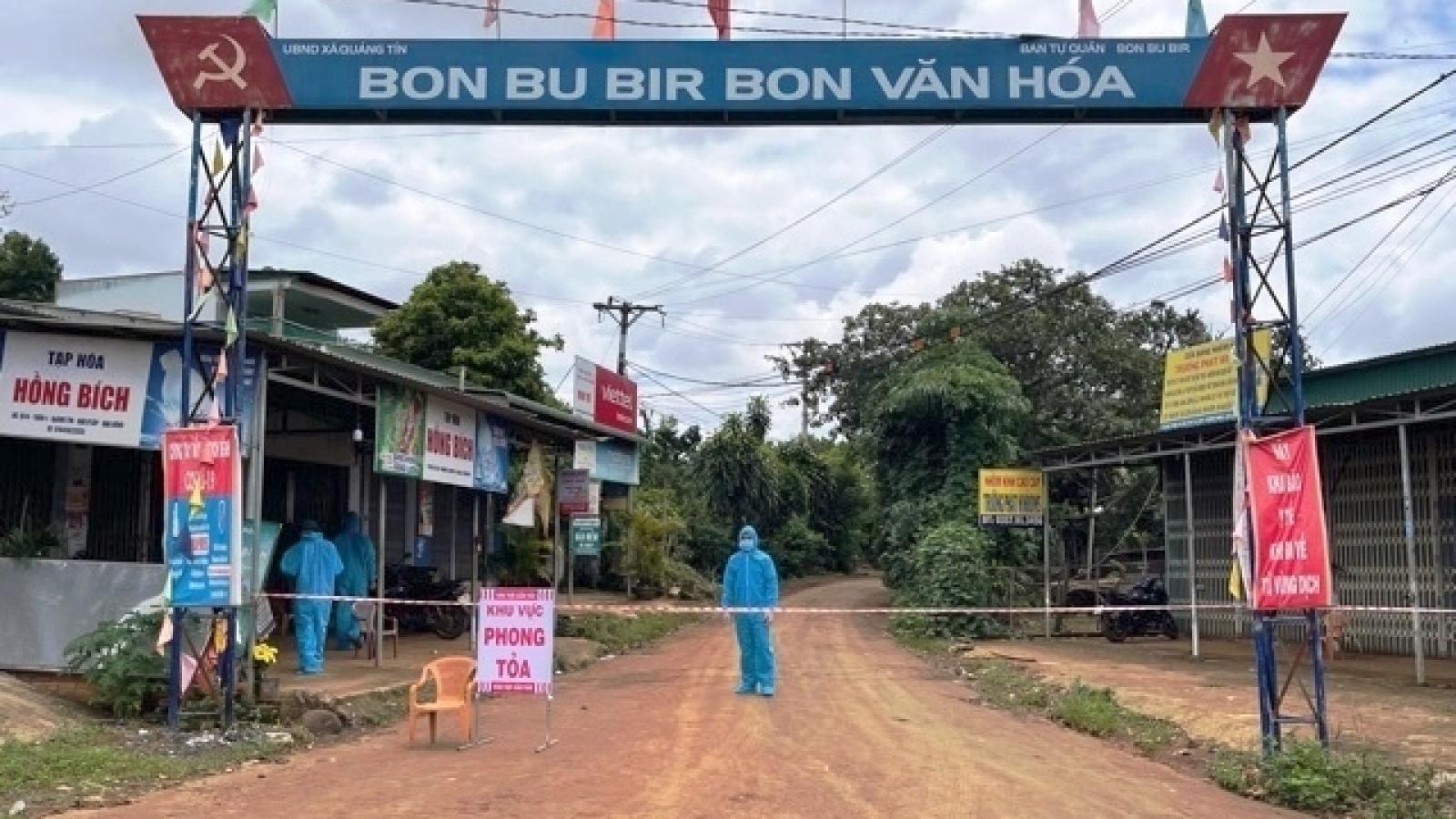 Huyện Đắk R'Lấp, tỉnh Đắk Nông gỡ bỏ phong toả