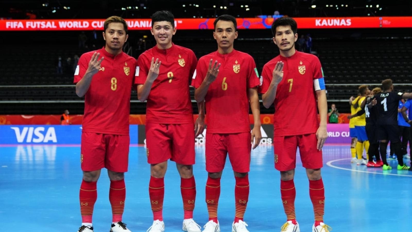 Thái Lan vào vòng 1/8 Futsal World Cup 2021 sau trận đại thắng Quần đảo Solomon