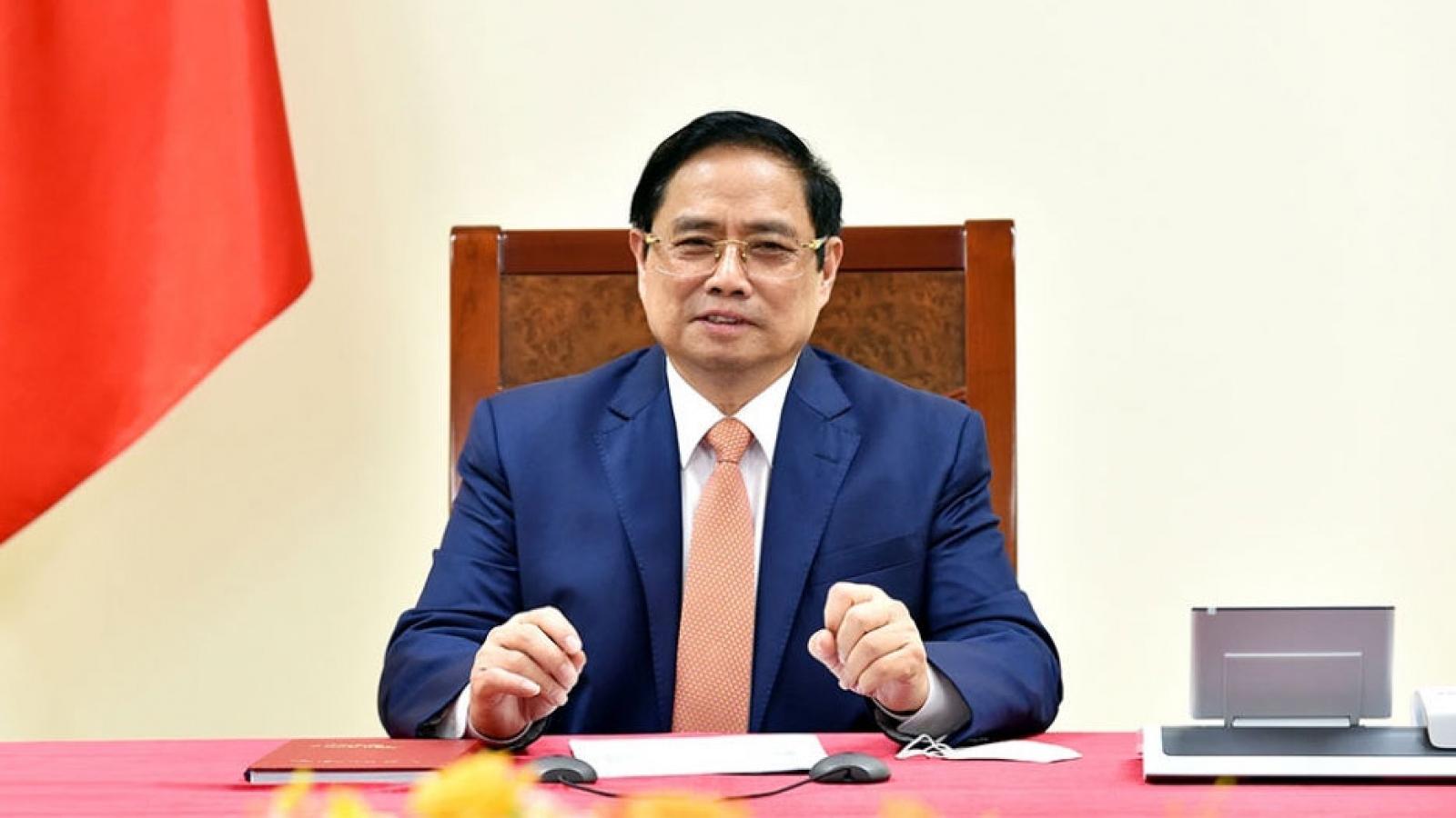 Thủ tướng Phạm Minh Chính dự Hội nghị thượng đỉnh Thương mại dịch vụ toàn cầu 2021