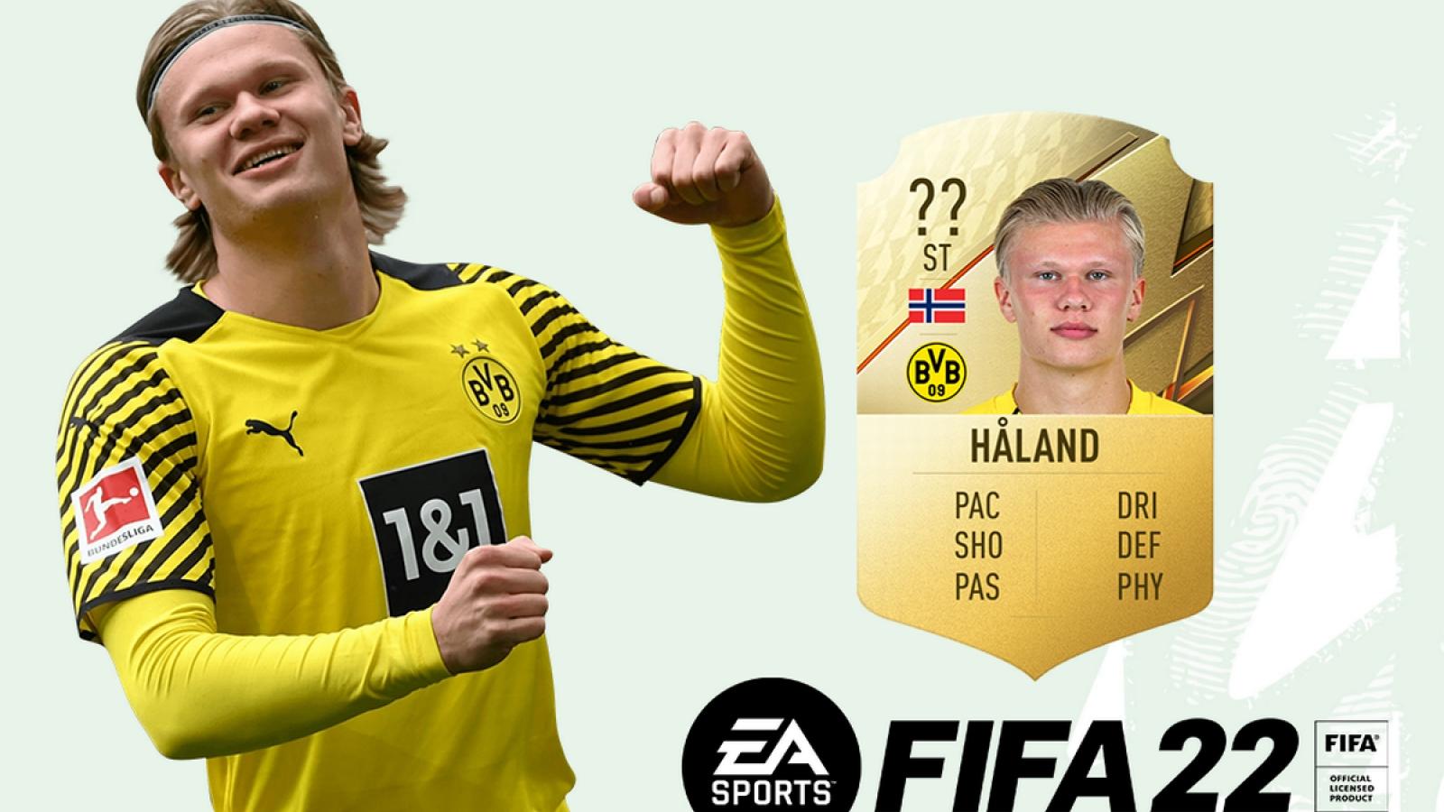 Top 10 cầu thủ trẻ hay nhất trong FIFA 22: Haaland không có đối thủ