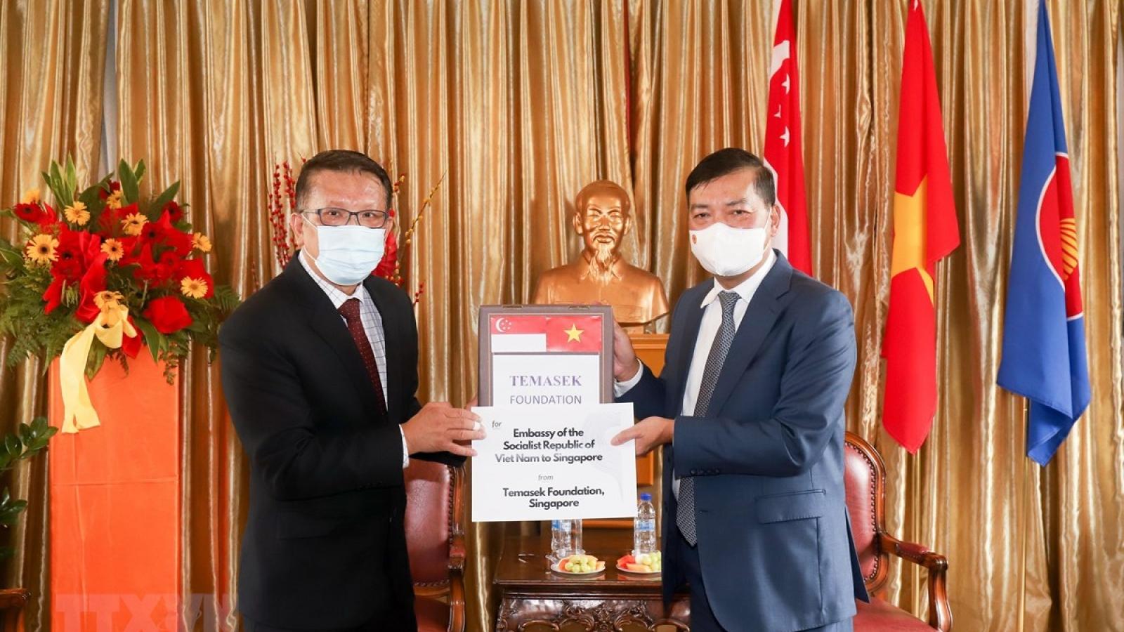 Singapore's Temasek presents COVID-19 medical supplies to Vietnam