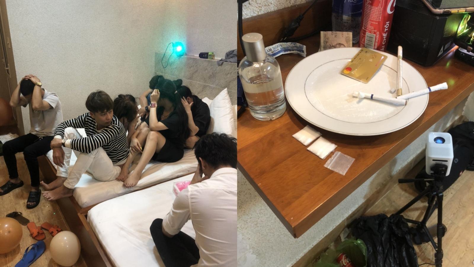 """13 nam nữ tụ tập trong khách sạn để """"mở tiệc ma túy"""""""