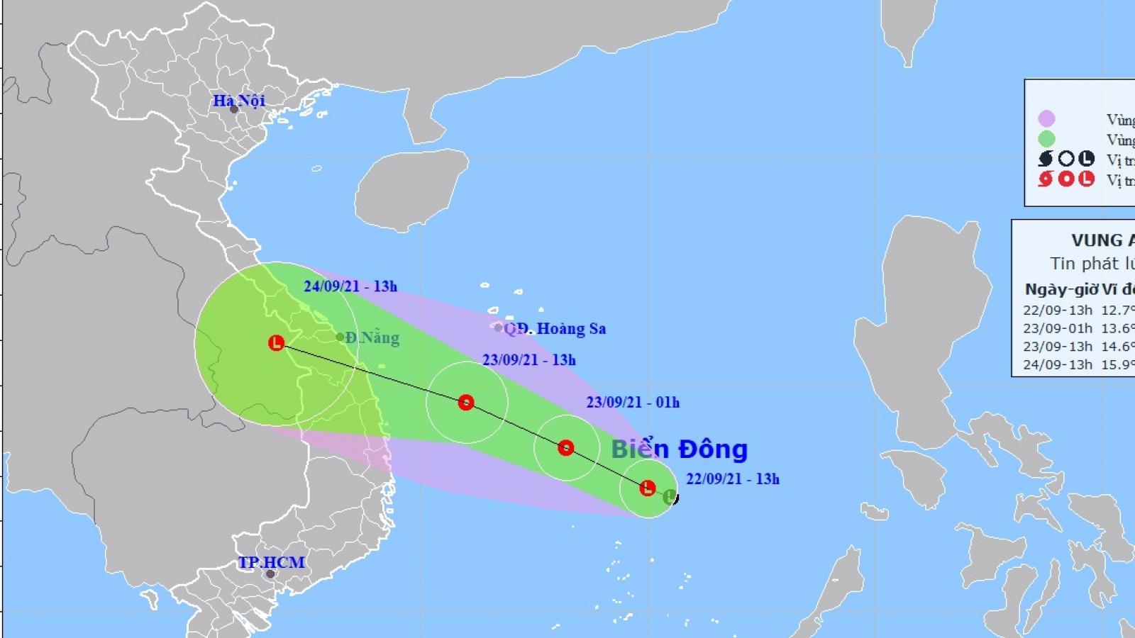 Chiều và tối nay, vùng áp thấp trên biển Đông sẽ mạnh lên thành ATNĐ
