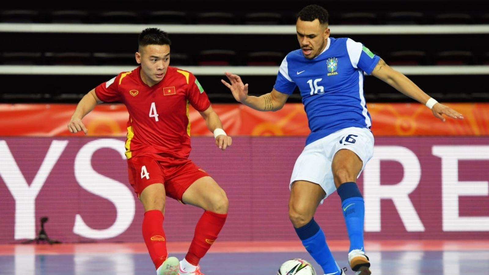 Ghi bàn vào lưới Brazil, ĐT Futsal Việt Nam vẫn thua đậm ngày ra quân Futsal World Cup