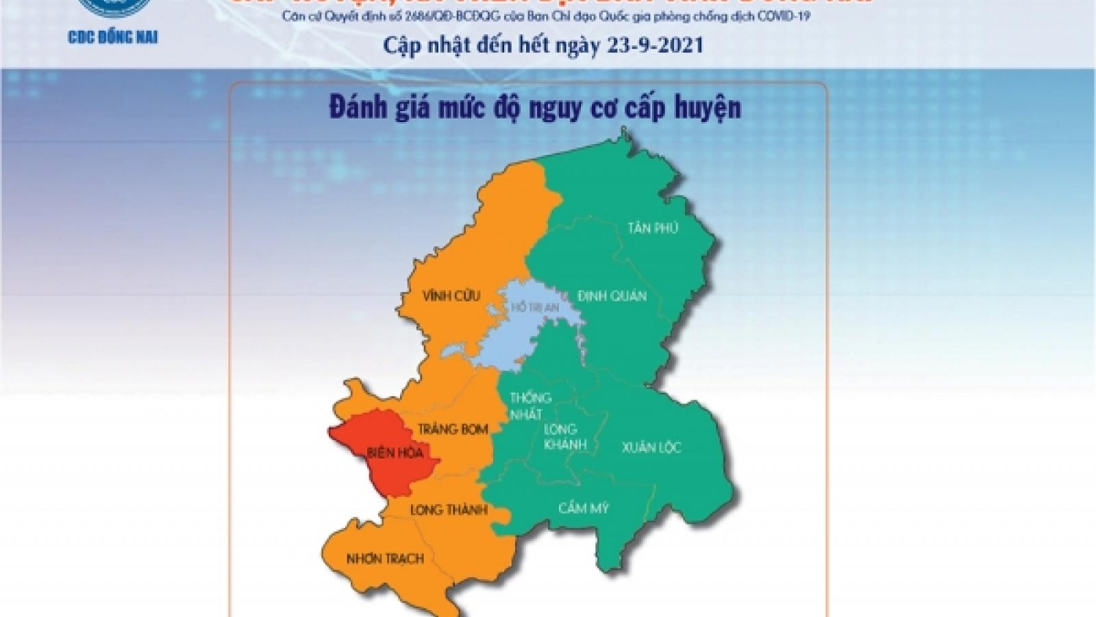 Đồng Nai có 6 huyện, thành phố trong trạng thái bình thường mới