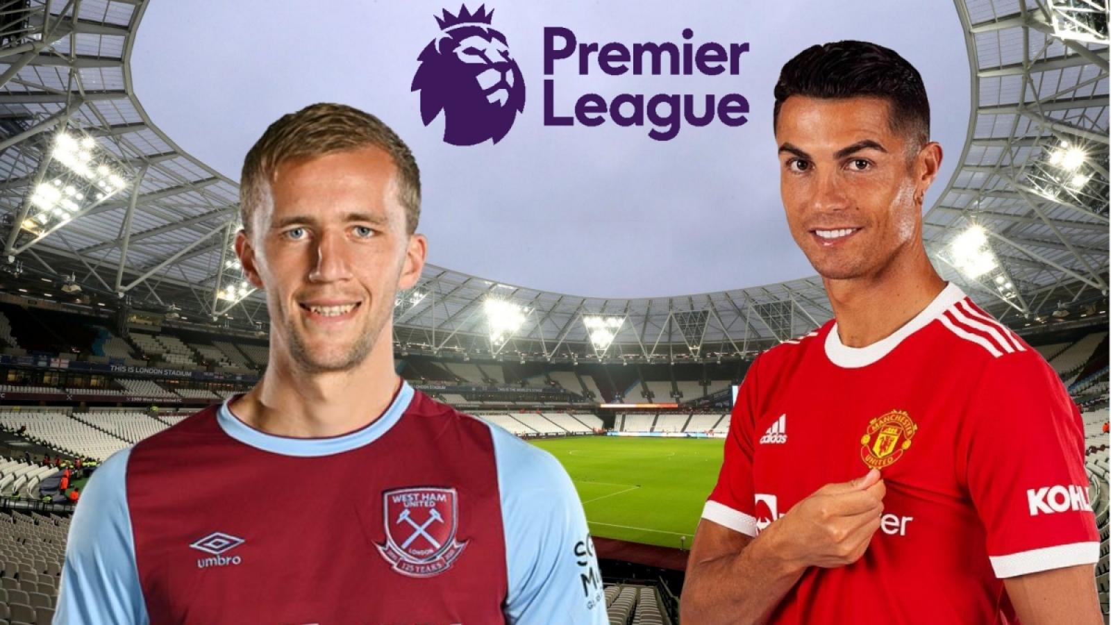 TRỰC TIẾP bóng đá West Ham vs MU: Ronaldo đá chính, Quỷ đỏ trở lại ngôi đầu?