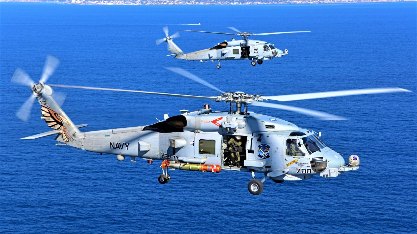 Sau tàu ngầm hạt nhân, Mỹ chấp thuận bán trực thăng săn ngầm cho Australia