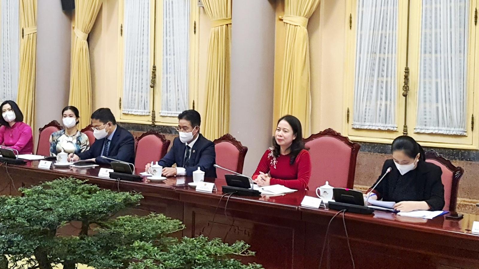 Phó Chủ tịch nước tiếp các nữ Đại sứ và trưởng đại diện các tổ chức quốc tế tại Việt Nam