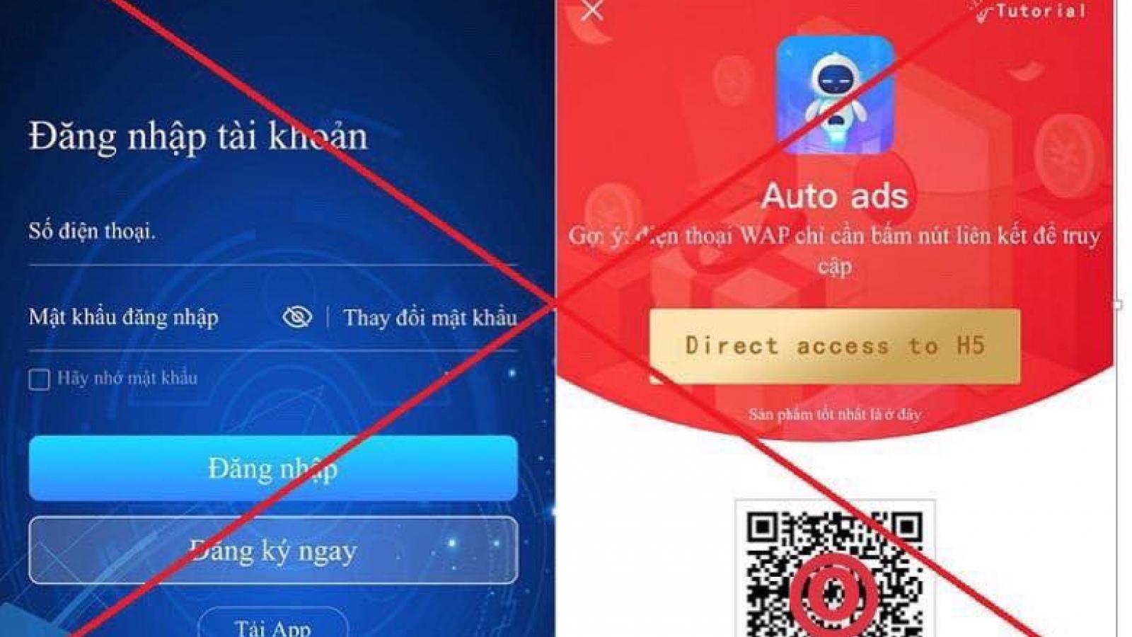 Cảnh báo ứng dụng Auto Ads hoạt động huy động vốn trái phép