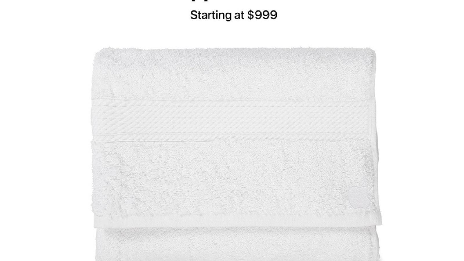 Apple có thể ra mắt khăn tắm biển Apple Towel Max giá 999 USD