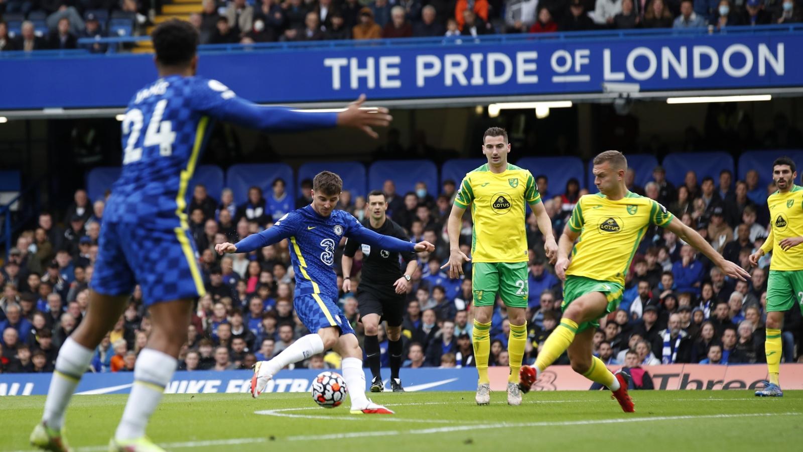 Trực tiếp Chelsea 1 - 0 Norwich: Mason Mount mở tỷ số