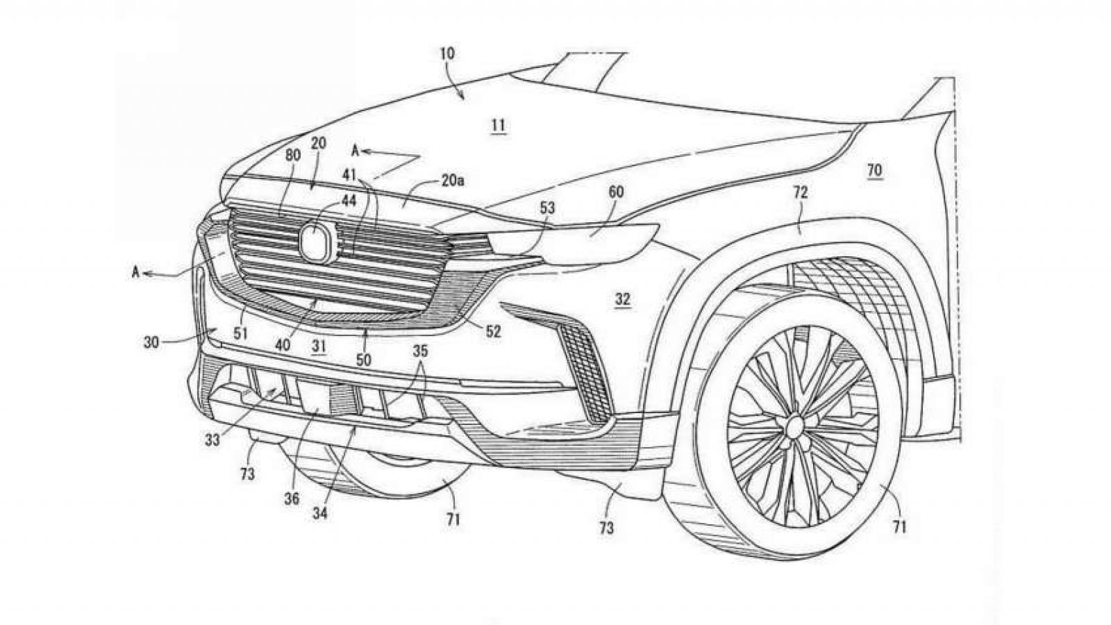 Mazda CX-50 lộ ảnh hồ sơ bằng sáng chế