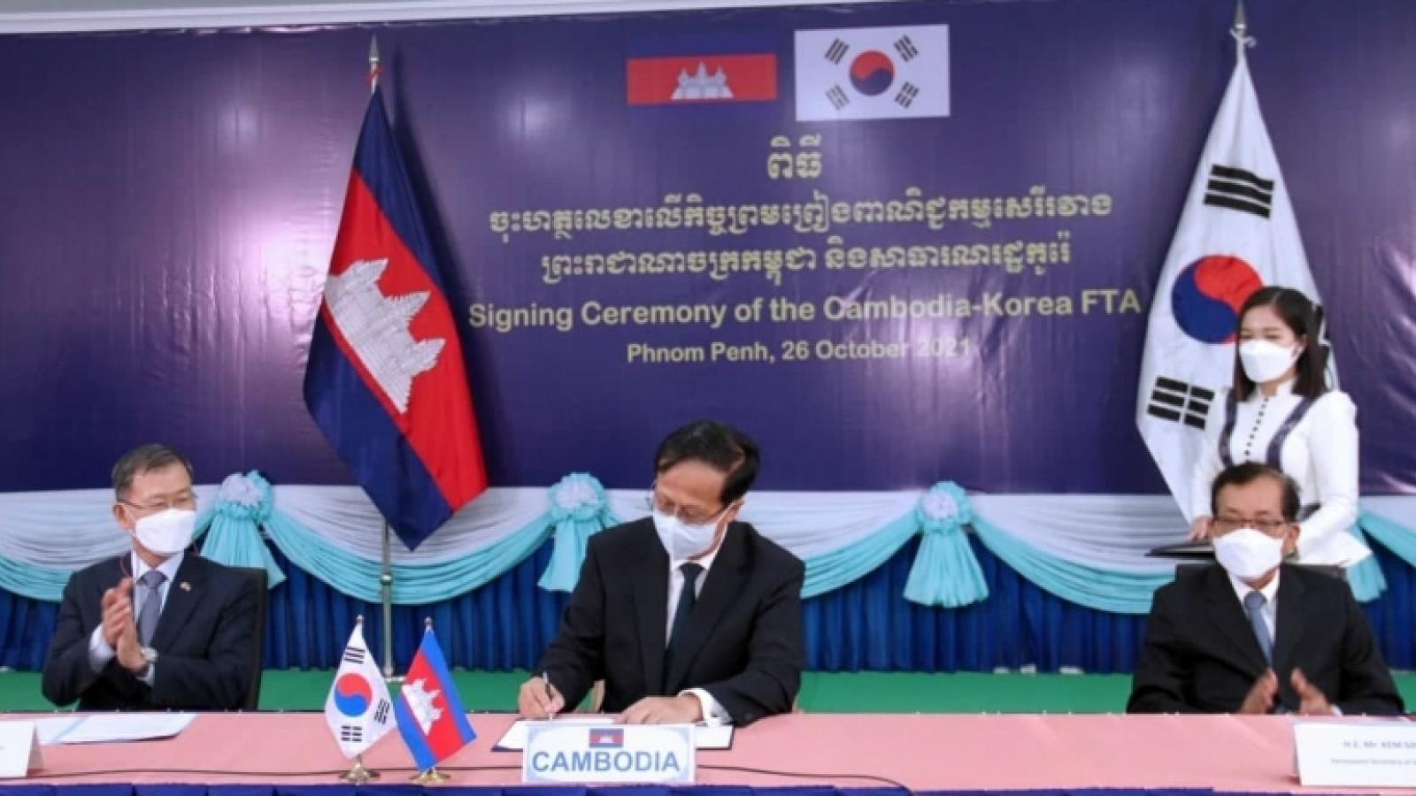 Campuchia – Hàn Quốc chính thức ký hiệp định thương mại tự do song phương